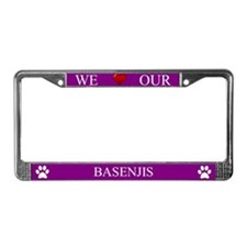 Purple We Love Our Basenjis Frame