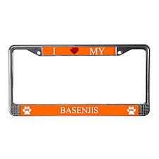 Orange I Love My Basenjis Frame