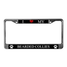 Black I Love My Bearded Collies Frame