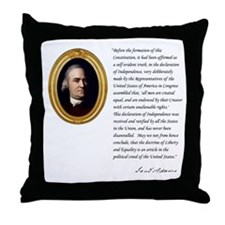 Samuel Adams Throw Pillow