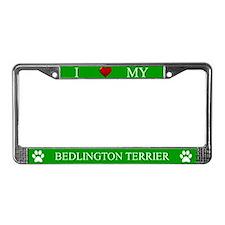 Green I Love My Bedlington Terrier Frame