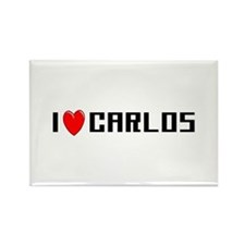 I Love Carlos Rectangle Magnet