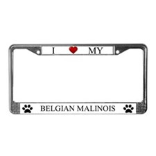 White I Love My Belgian Malinois Frame