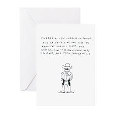 """New Sherrif"" Greeting Cards (Pk of 10)"