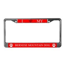 Red I Love My Bernese Mountain Dog Frame