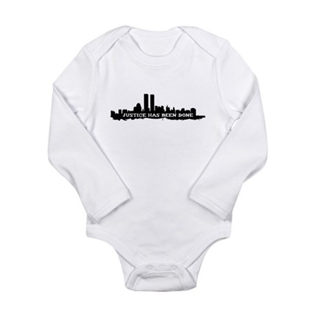 9-11 Justice Has Been Done Long Sleeve Infant Body