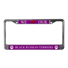 Purple We Love Our Black Russian Terriers Frame