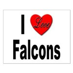I Love Falcons Small Poster