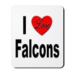 I Love Falcons Mousepad