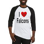 I Love Falcons Baseball Jersey