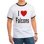 I Love Falcons (Front) Ringer T