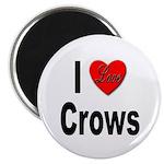 I Love Crows Magnet