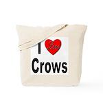 I Love Crows Tote Bag