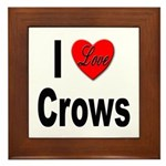 I Love Crows Framed Tile