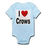 I Love Crows Infant Creeper