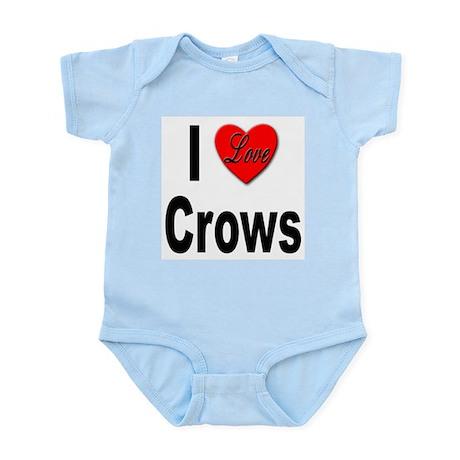 I Love Crows Infant Creeper