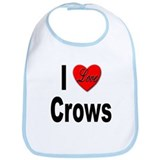 I Love Crows Bib