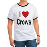 I Love Crows Ringer T