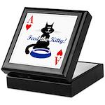 Cats Playing Poker Keepsake Box