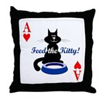 Cats Playing Poker Throw Pillow