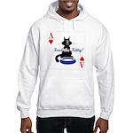 Cats Playing Poker Hooded Sweatshirt