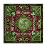 Celtic Dragon Labyrinth Tile Coaster