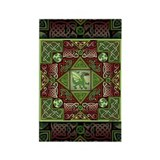 Celtic Dragon Labyrinth Rectangle Magnet