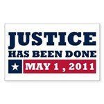 Justice Has Been Done Sticker (Rectangle 10 pk)