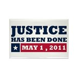 Justice Has Been Done Rectangle Magnet (100 pack)