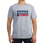 Justice Has Been Done Men's Fitted T-Shirt (dark)