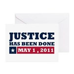 Justice Has Been Done Greeting Cards (Pk of 20)