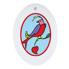 Birds Oval Ornament