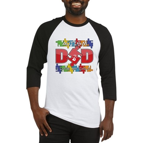Autism Dad I Love My Child Baseball Jersey