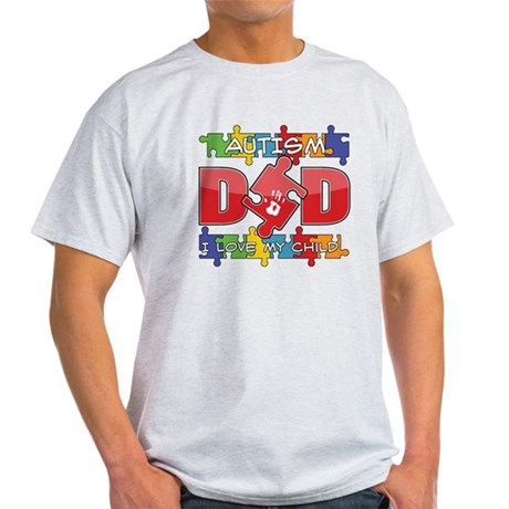 Autism Dad I Love My Child Light T-Shirt