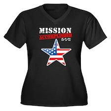 Mission Accomplished Women's Plus Size V-Neck Dark
