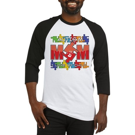 Autism Mom I Love My Child Baseball Jersey