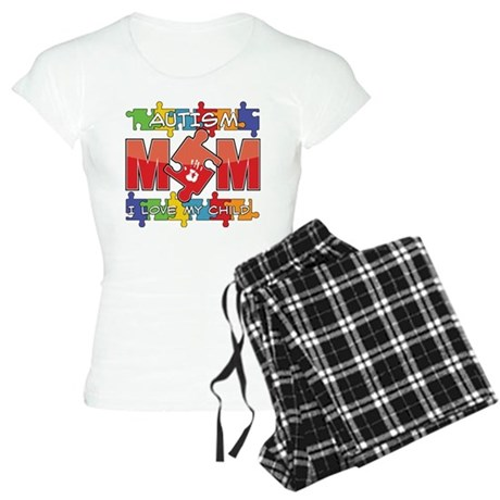 Autism Mom I Love My Child Women's Light Pajamas