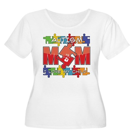Autism Mom I Love My Child Women's Plus Size Scoop