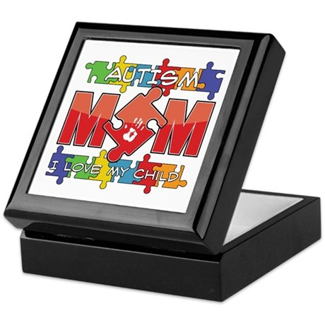 Autism Mom I Love My Child Keepsake Box