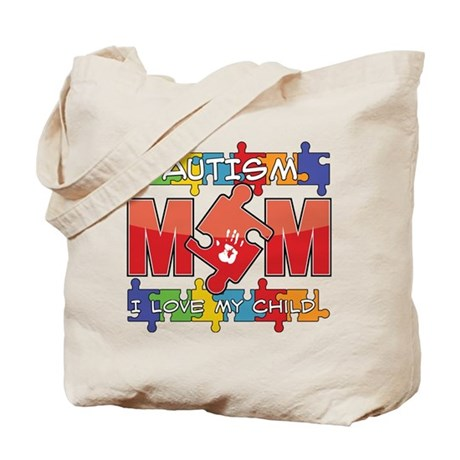 Autism Mom I Love My Child Tote Bag