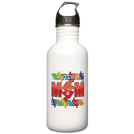 Autism Mom I Love My Child Stainless Water Bottle