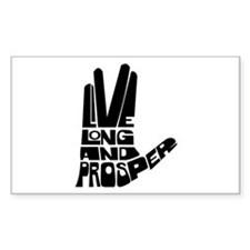 Live long and Prosper Stickers