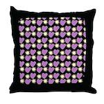 Purple Love Fireworks Throw Pillow
