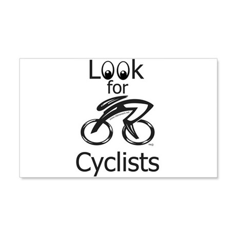 LOOK FOR CYCLISTS 2 22x14 Wall Peel