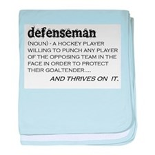 Defenseman baby blanket