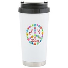 Peace Love Alabama Ceramic Travel Mug