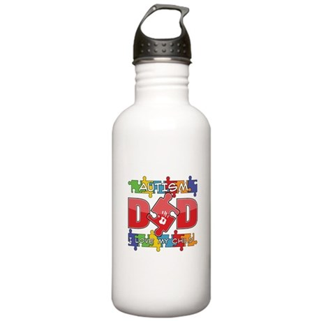 Autism Dad I Love My Child Stainless Water Bottle