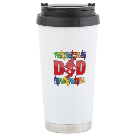 Autism Dad I Love My Child Ceramic Travel Mug
