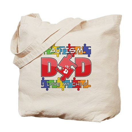 Autism Dad I Love My Child Tote Bag