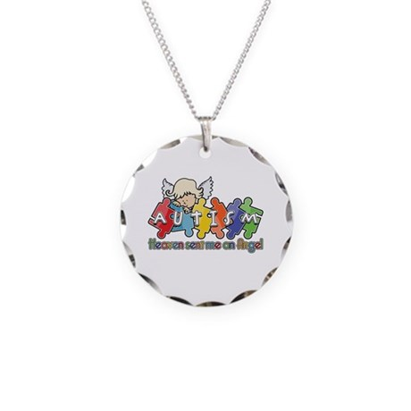 Autism Heaven SentMeAnAngel Necklace Circle Charm